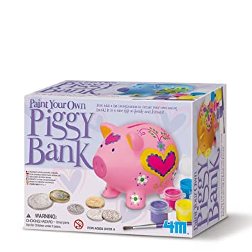 Childrens Arts Crafts Creativity Kit Make And Decorate Your Own Piggy Bank