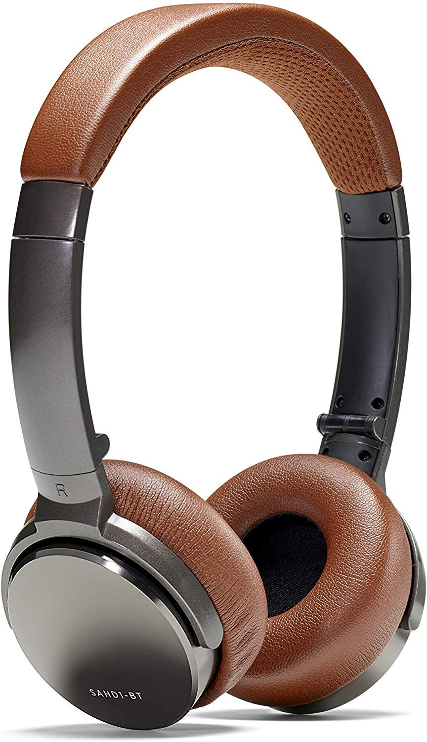Status Audio BT One Wireless On-Ear Headphones – Bluetooth 5.0. aptX, 30 Hours of Battery, USB-C Quick Charge, Award Winning Sound Minimalist Metal Design, Gunmetal Grey Brown Umber