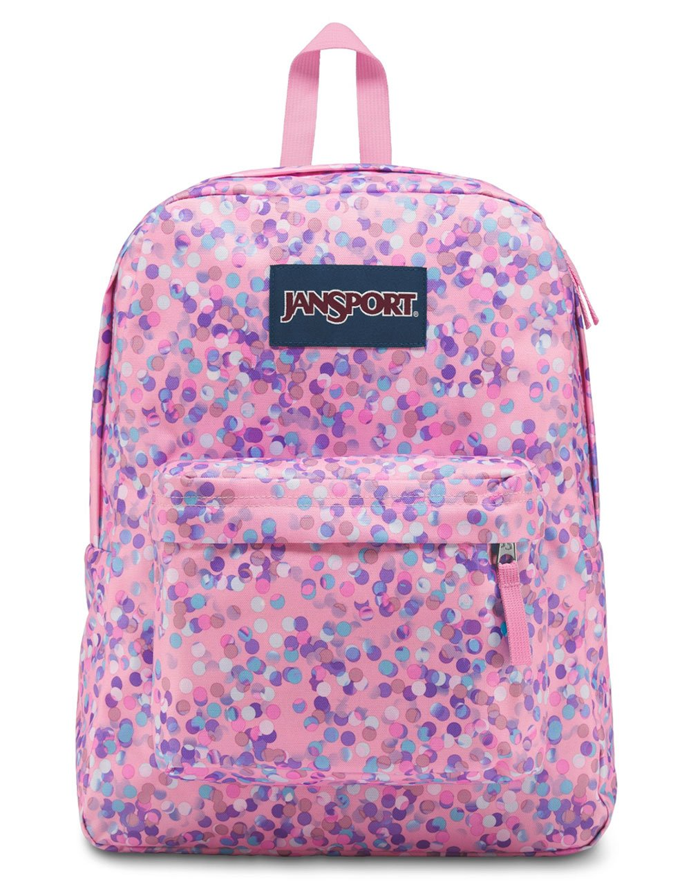 JanSport Unisex Superbreak Classic Ultralight Backpack Pink Sparkle Dot