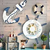 """Meching 2 Pack 13"""" Wooden Ship Wheel and Wood"""