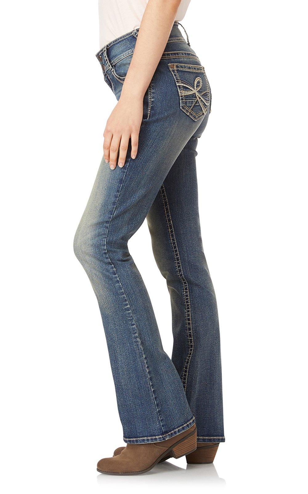 WallFlower Jeans Junior's Petite InstaStretch Luscious Curvy Bootcut, Basil, 3 Short by WallFlower (Image #3)