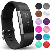 FitBit Charge 2 Strap Band, Yousave Accessories Replacement Silicone Sport  Wristband for the FitBit Charge