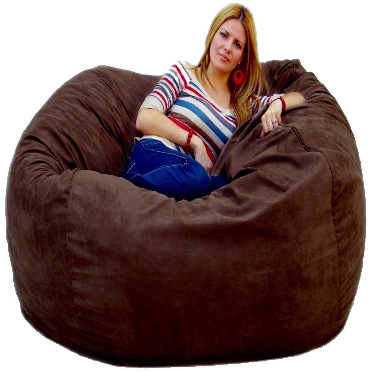 Pleasing Cozy Sack 5 Feet Bean Bag Chair Large Chocolate Inzonedesignstudio Interior Chair Design Inzonedesignstudiocom