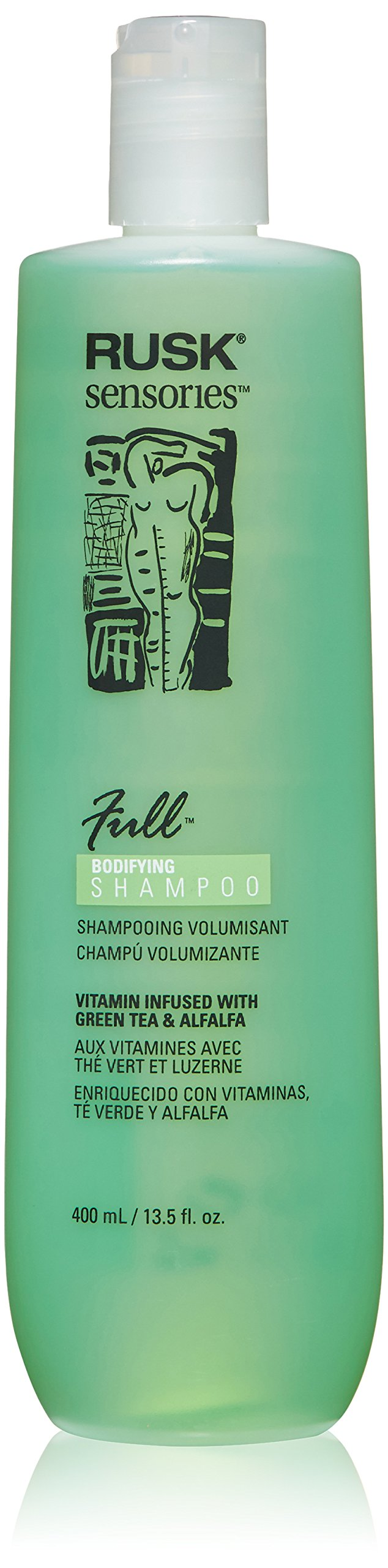 RUSK Sensories Full Green Tea and Alfalfa Bodifying Shampoo, 13.5 fl. oz.