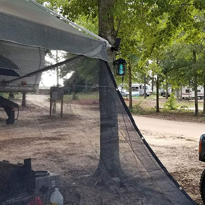 4 x 6 Heavy Duty Black Shade Mesh Screen Tarp with 40/% Shade MADE IN USA!