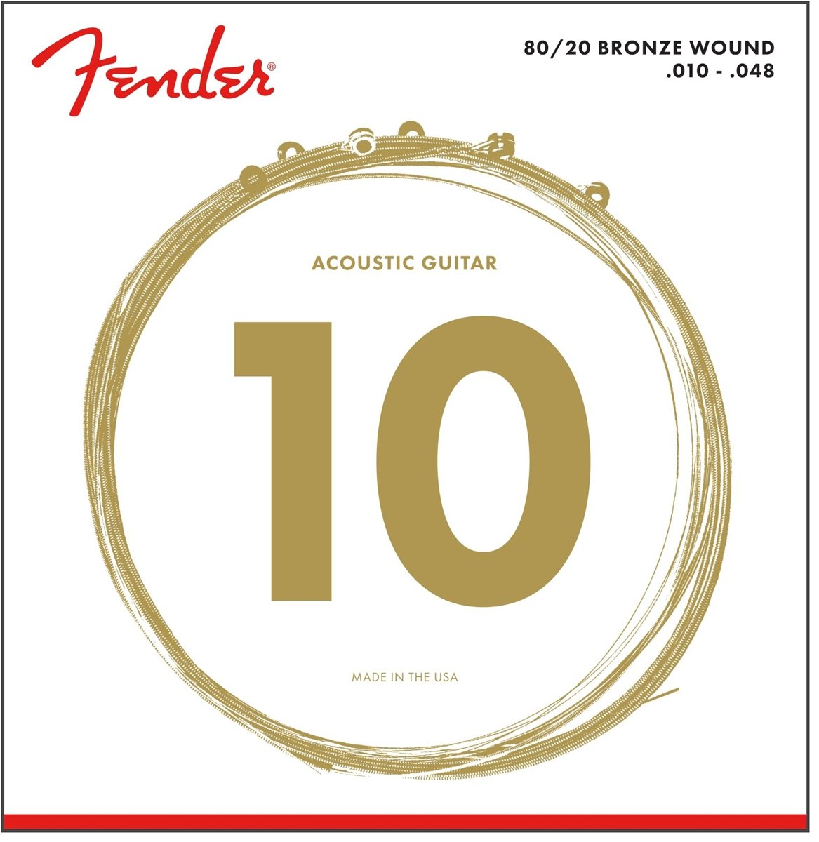 Fender Accessories 073-0070-403 80/20 Bronze Acoustic Guitar Strings, Light 0730070403