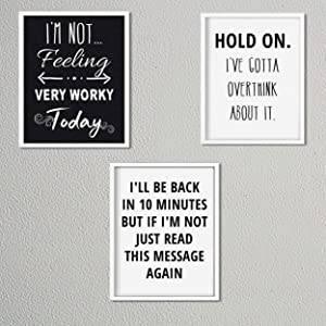 Office-Desk-Cubicle- Funny Sign Prints Set (3) 8 x10's