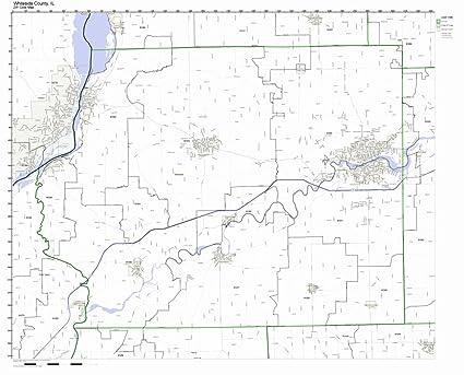 Amazon Com Whiteside County Illinois Il Zip Code Map Not Laminated