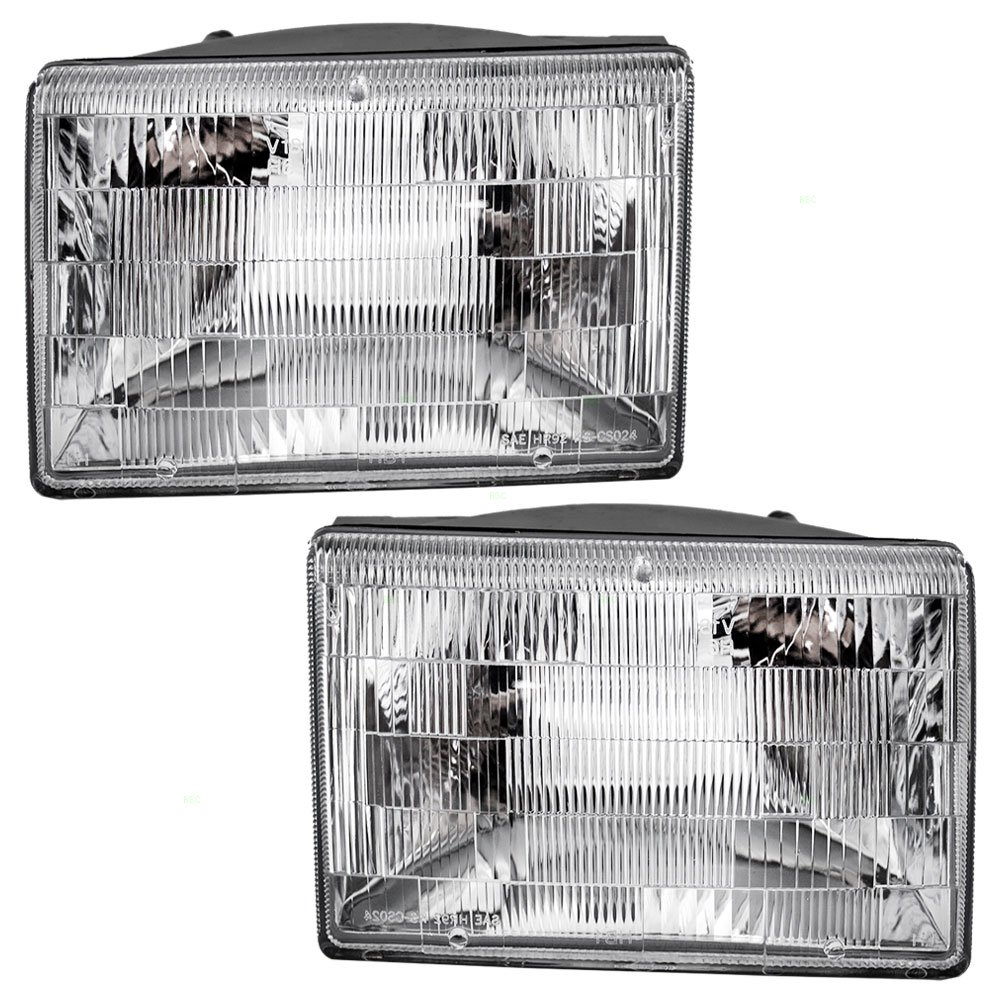 Driver and Passenger Headlights Headlamps Replacement for Jeep SUV 55155127 55155126 Aftermarket