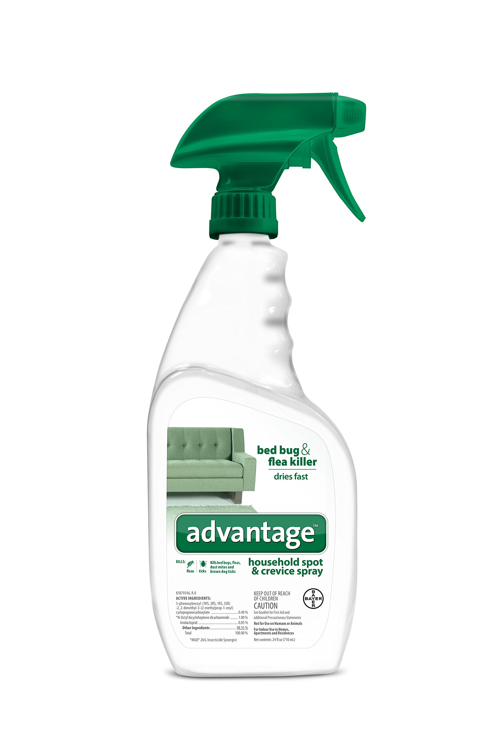 Advantage Flea, Tick, Dust Mite and Bed Bug Spot and Crevice Spray, 24 oz
