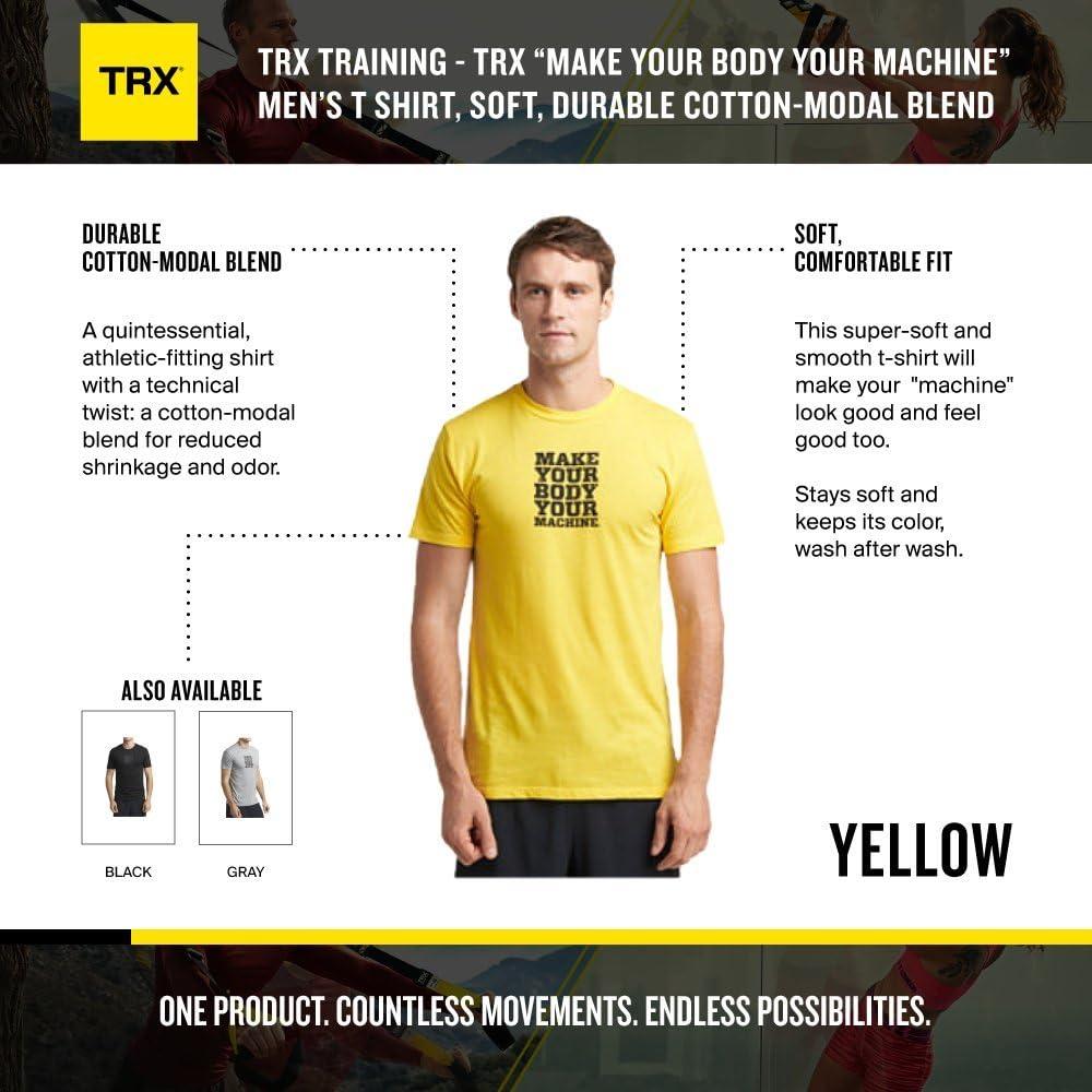 TRX Entrenamiento Camiseta Logotipo Make Your Body Your ...