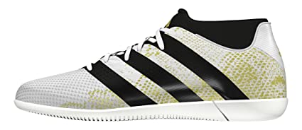 low priced a877f 37c66 adidas Ace 16.3 Primemesh Indoor Football Shoes Mens White Gold Soccer  Trainers (UK9.