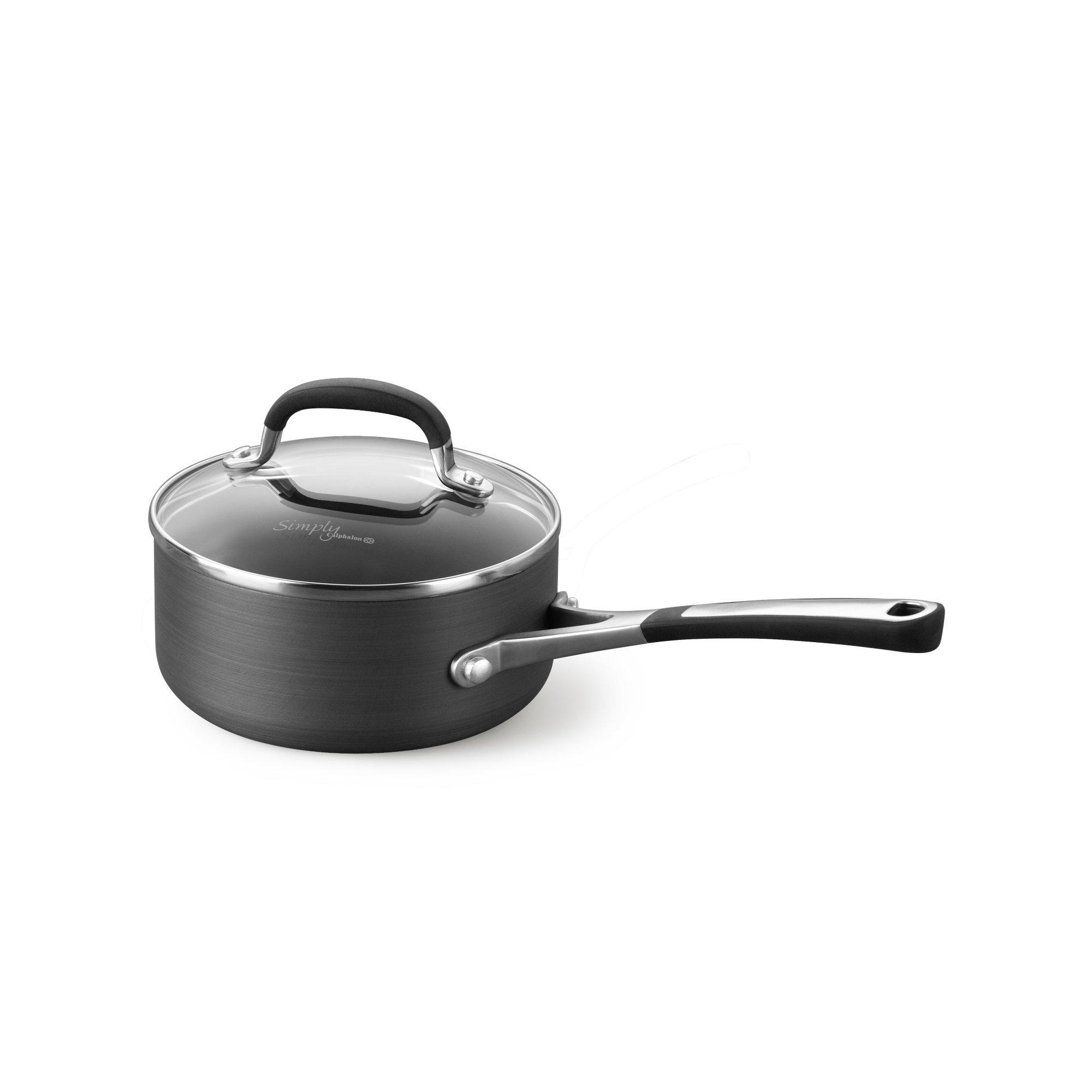 Simply Calphalon Nonstick 2-Quart Saucepan with Cover
