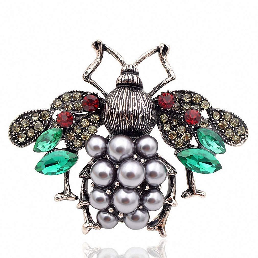 Jana Winkle 3 Colors Choose Pearl Rhinestone Big Bee Brooches Women Insect Pin Gift Coffee by Jana Winkle (Image #2)
