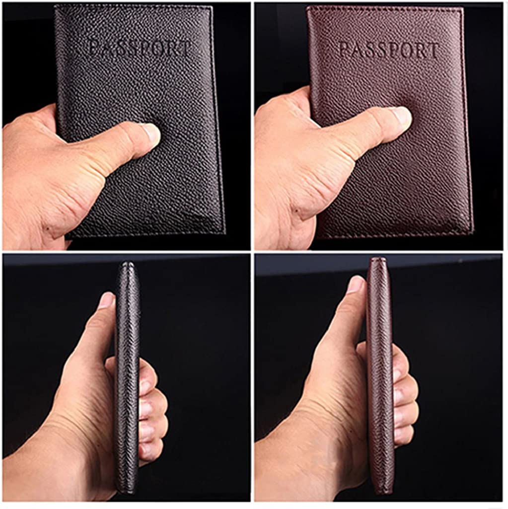 potato001 Travel Passport Cover Case ID Card Holder Case Faux Leather Protector Organizer