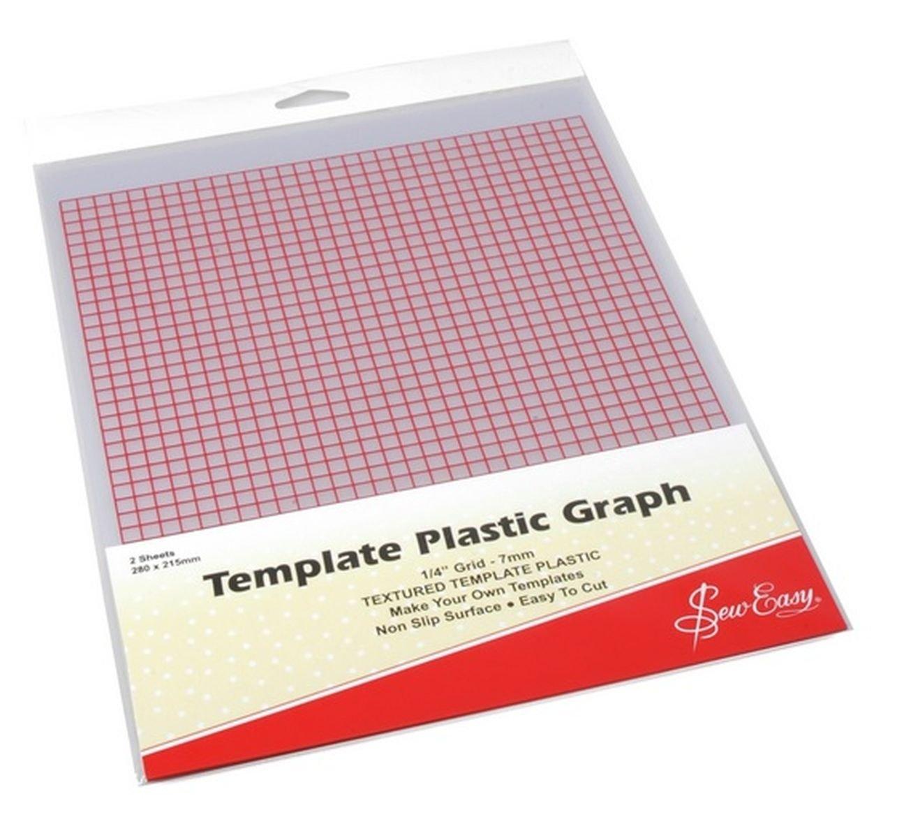 Amazon.com: Sew Easy Template Plastic Graph, Pk Of 2 Sheets, 280 X ...