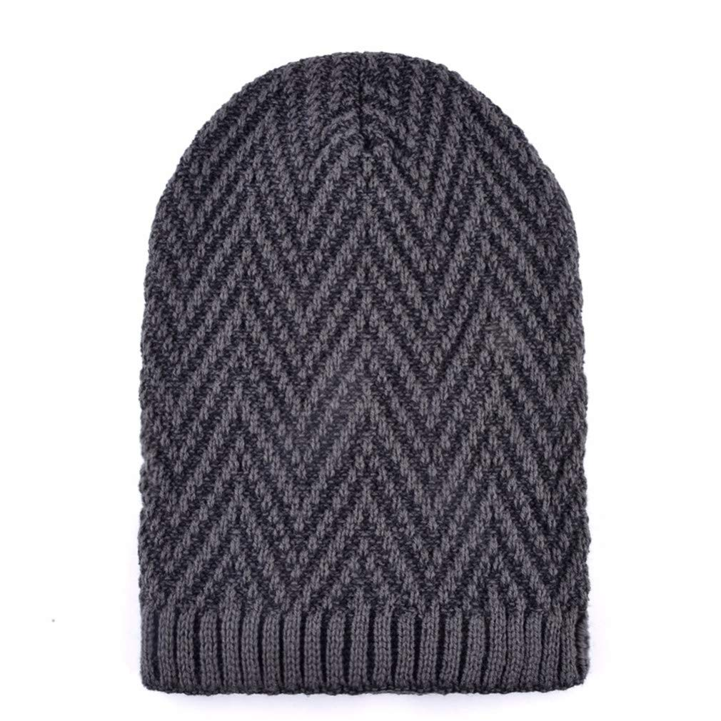 Mens Hat Scarf Sets Winter Knitted Thick Bonnet Caps Men Velvet Beanies Hats Set Knitting Warm Skullies