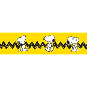 Eureka Classroom Deco Trim Peanuts Yellow with Snoopy