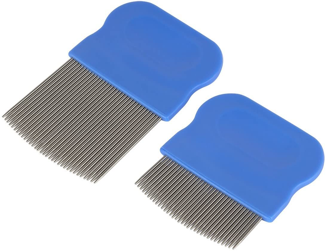Ezy Dose Kids Lice and Eggs Comb | Hair Care for Baby, Toddler, Adult | Stainless Steel Pin Teeth | Pack of 2 (Short/Long)