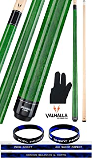 product image for Valhalla by Viking VA105 Green 2 Piece Pool Cue Stick No Wrap 18-21 oz. Plus Billiard Glove & Bracelet