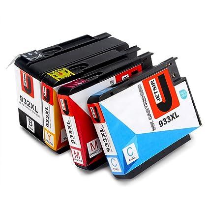 JETSIR Compatible Cartuchos de tinta Reemplazo para HP 932XL 933XL, Alta Capacidad Compatible con HP Officejet 6700 6600 7610 7110 6100 Impresora, ...