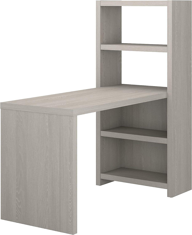 Bush Business Furniture Office by kathy ireland Echo Bookcase Desk, 56W, Gray Sand