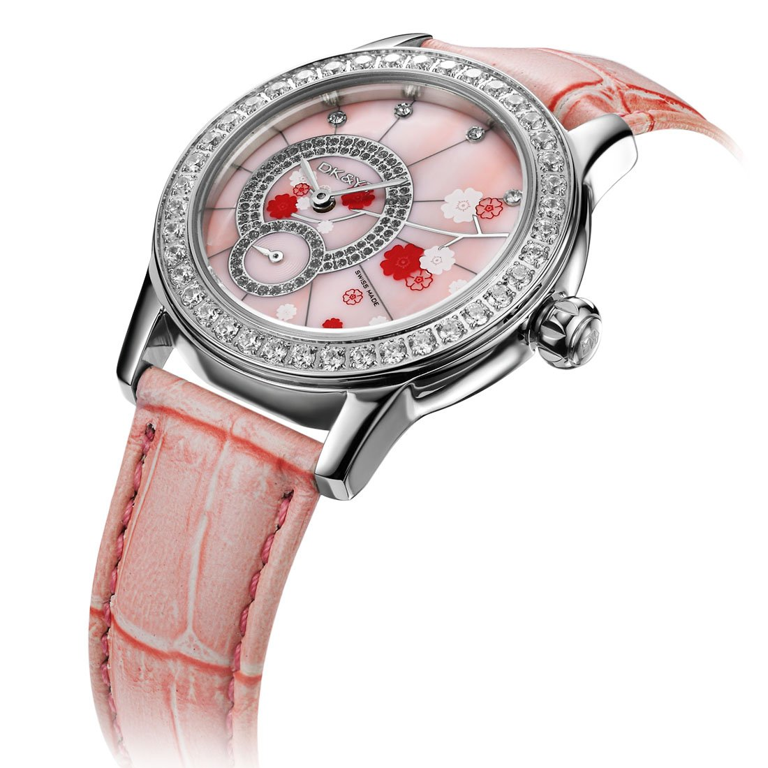 Women's Crystal Bloom Swarovski Crystals Watch (Pink)