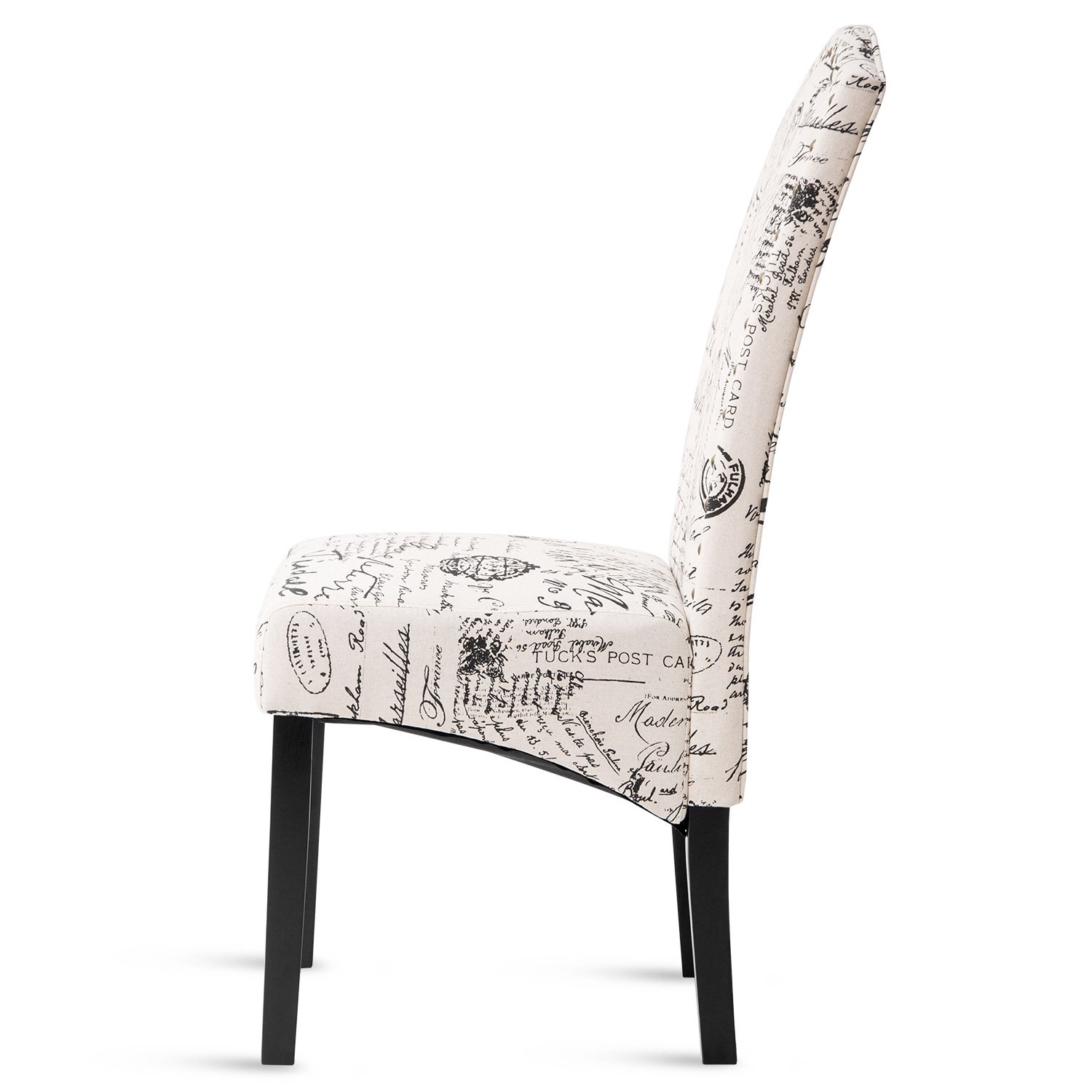 Merax PP036312AAA Dining Script Fabric Accent Chair with Solid Wood Legs, Set of 2 by Merax (Image #4)