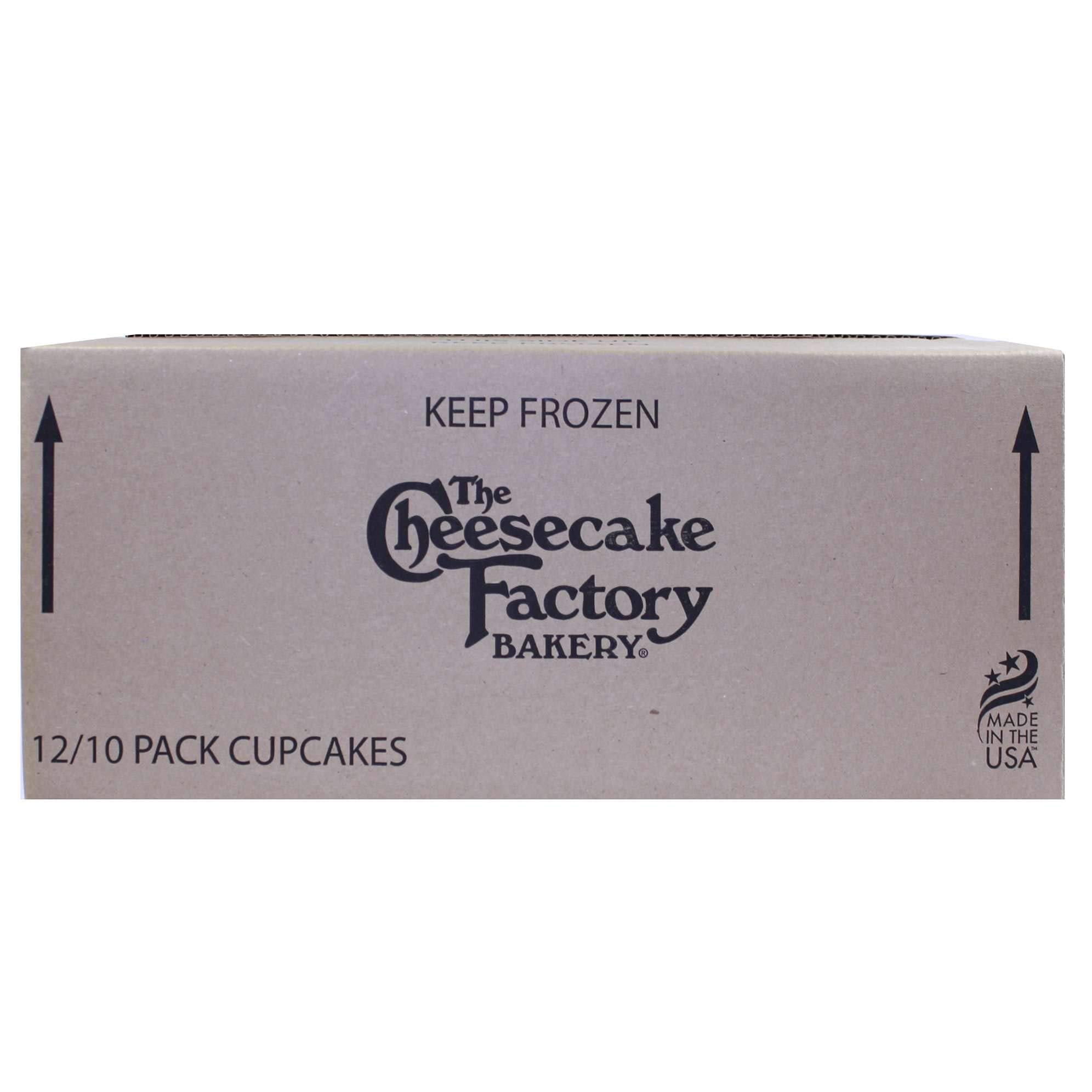 The Cheesecake Factory Mini Cupcake Combo (Vanilla Bean, Blackout, Red Velvet) 10 count (Pack of 12) by The Cheesecake Factory