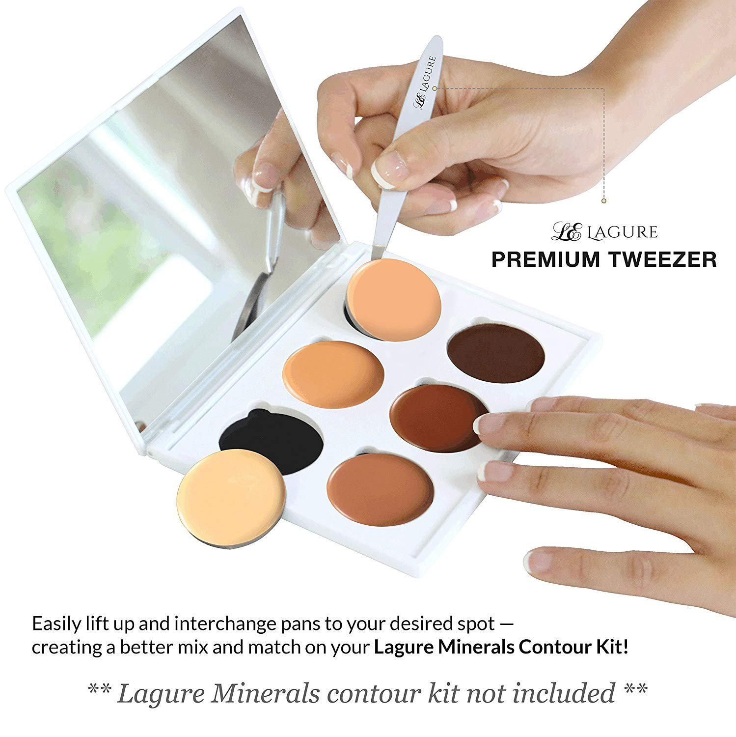 Lagure Slant Tweezers - Best Stainless Steel Eyebrow Tweezers with Ultra Strong Grip and Ultimate Precision