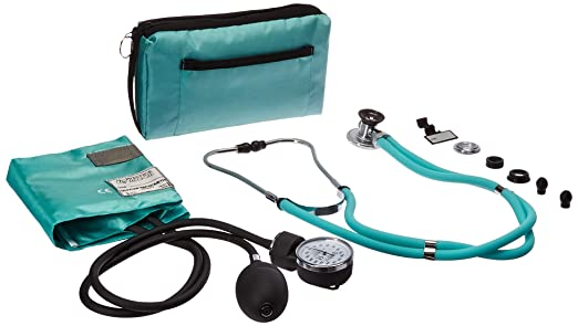 Prestige Medical Aneroid Sphygmomanometer/Sprague-Rappaport Kit, Aqua Sea