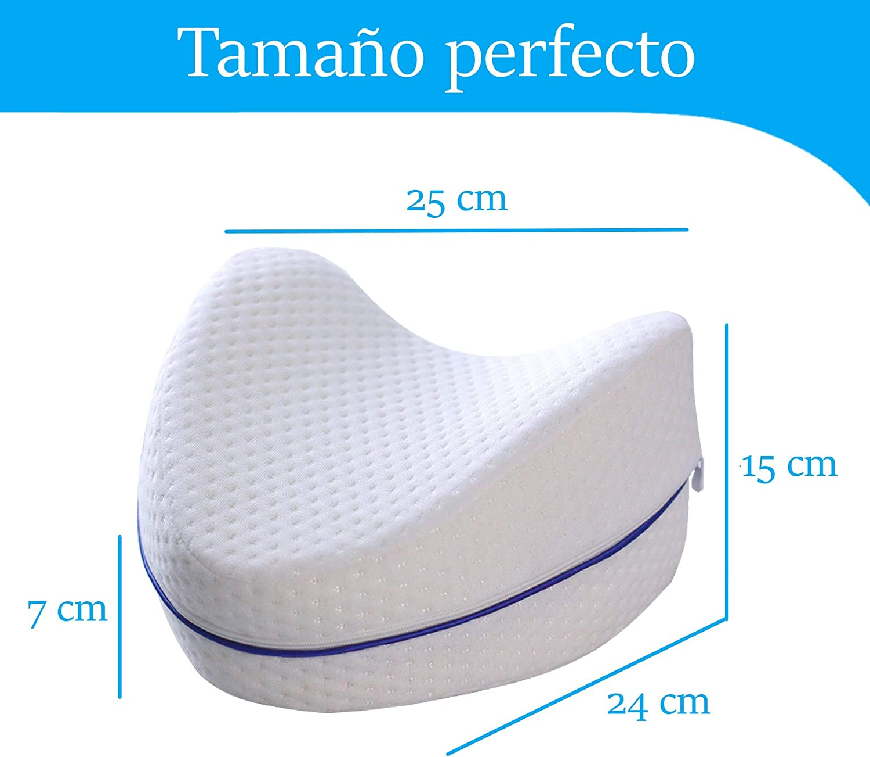 Coussin orthop/édique doux ergonomique de lit pour l/'alignement des hanches et la colonne en mousse /à m/émoire de forme