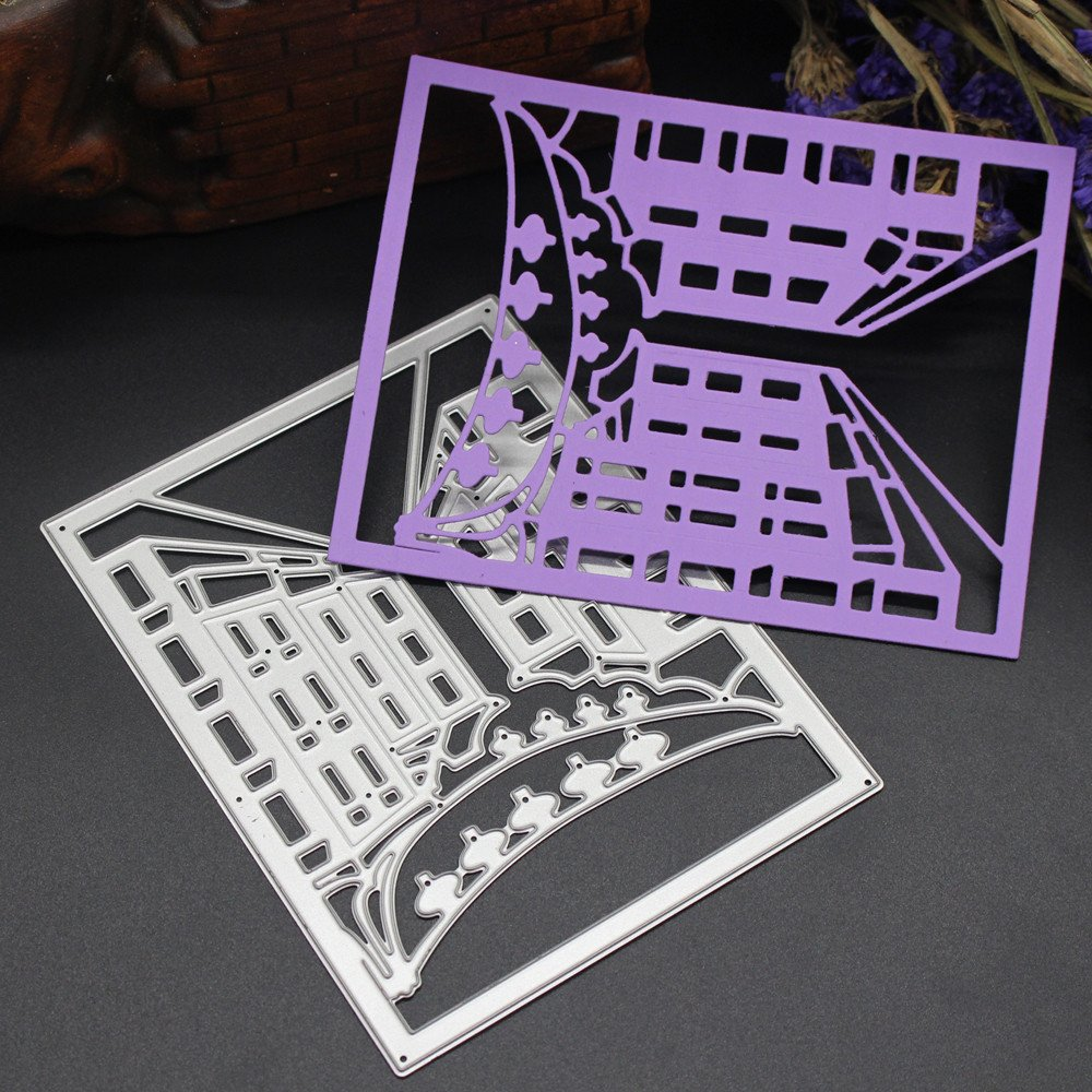 TM Scrapbooking Dies de decoupe No/ël Metal Die Cutting Dies Stencil for DIY Scrapbooking Album Paper Card Decor Craft Color/é B