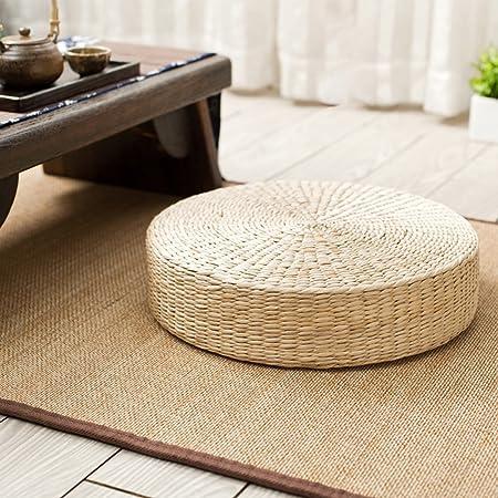 ❤ El cojín de paja tejido está hecho a mano con Shoot de crecimiento natural. Es una esponja de cauc