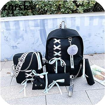 Mochilas de lona para mujer, bolso de hombro, mochila USB