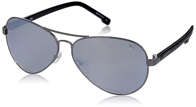 Lacoste L163S 033 62 Montures de lunettes Homme, Gris (Gunmetal ... 897374ec60ed