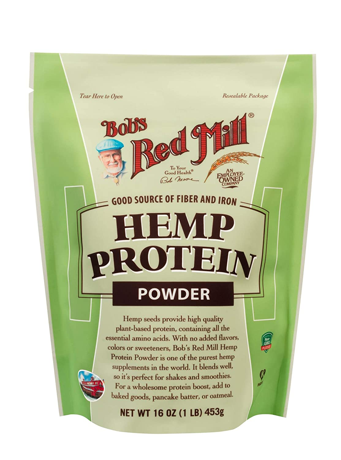 Bob s Red Mill Resealable Hemp Protein Powder, 16 Oz 4 Pack