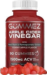 Apple Cider Vinegar Gummies - 90 Count, 1500mg ACV Detox, Weight Loss & Energy. YUM Gummez ACV Gummies Taste Great Compared to Pills, Capsules, Tablets