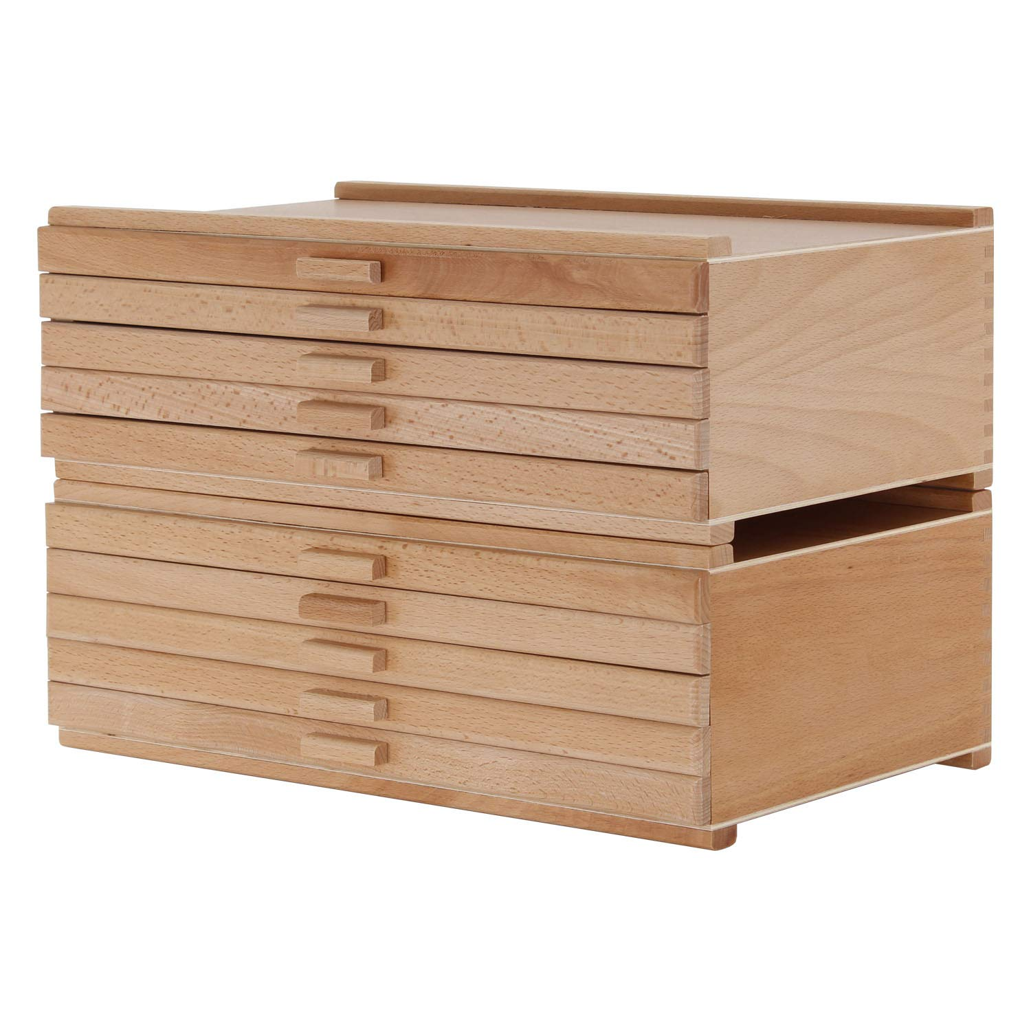 U.S. Art Supply 10 Drawer Wood Artist Supply Storage Box - Pastels, Pencils, Pens, Markers, Brushes US Art Supply WB-430
