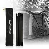 テントポールロッド タープポール テントフレーム 調整可能 分割式 天幕 アウトドア キャンプ用品 軽量 収納袋付き 2本セット