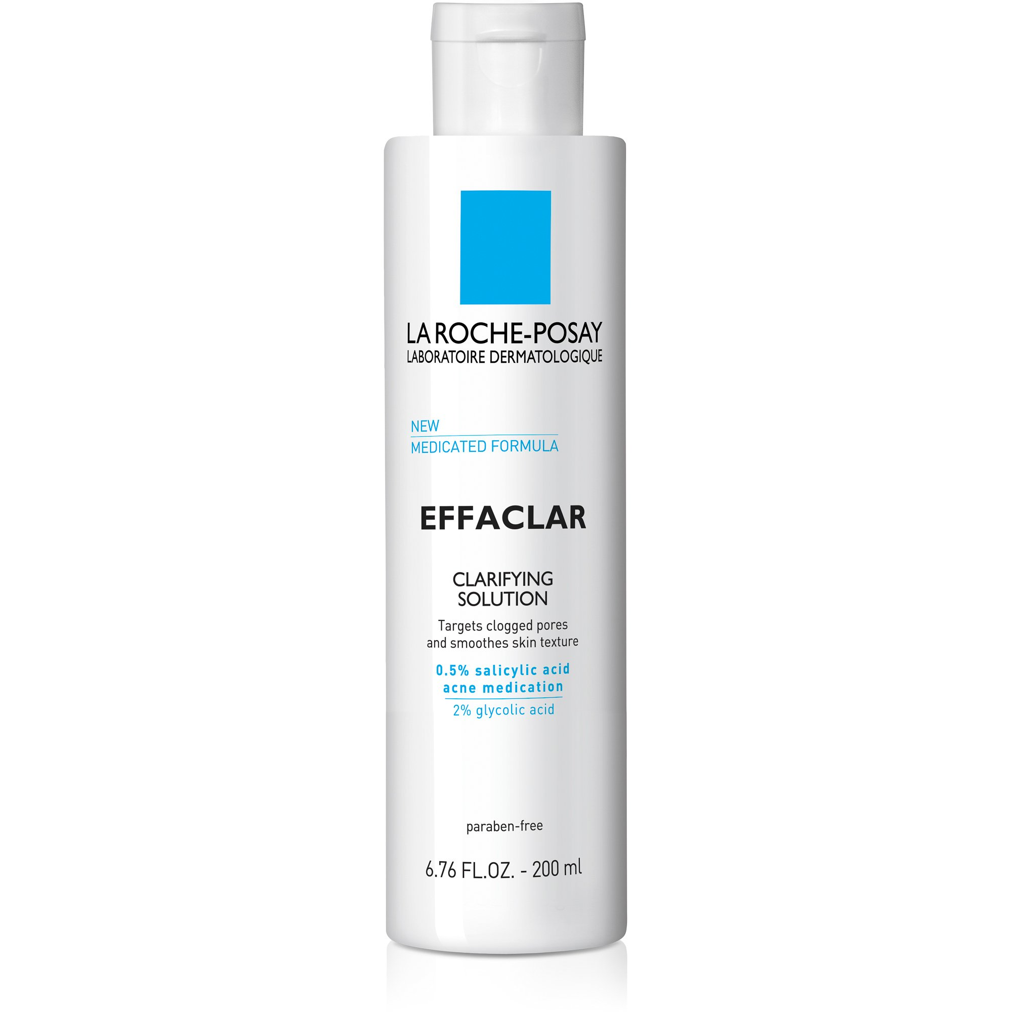 La Roche-Posay Effaclar Clarifying Solution Acne Toner with Salicylic Acid, 6.76 Fl Oz