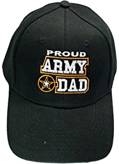 61b40e4d0789d Proud Army Dad Baseball Cap Black U.S. Army Star Hat Father
