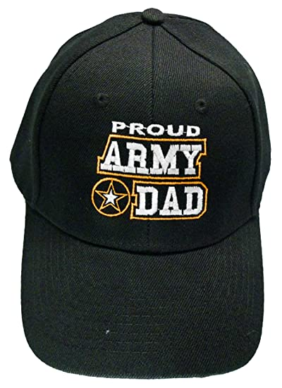 Proud Army Dad Baseball Cap Black U.S. Army Star Hat Father at ... cdecde72d74