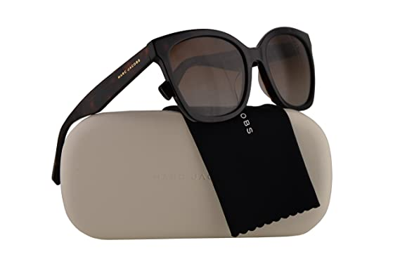 025971bf4045 Image Unavailable. Image not available for. Colour: Marc Jacobs Marc 309/S  Sunglasses Dark Havana w/Polarized Brown Gradient ...