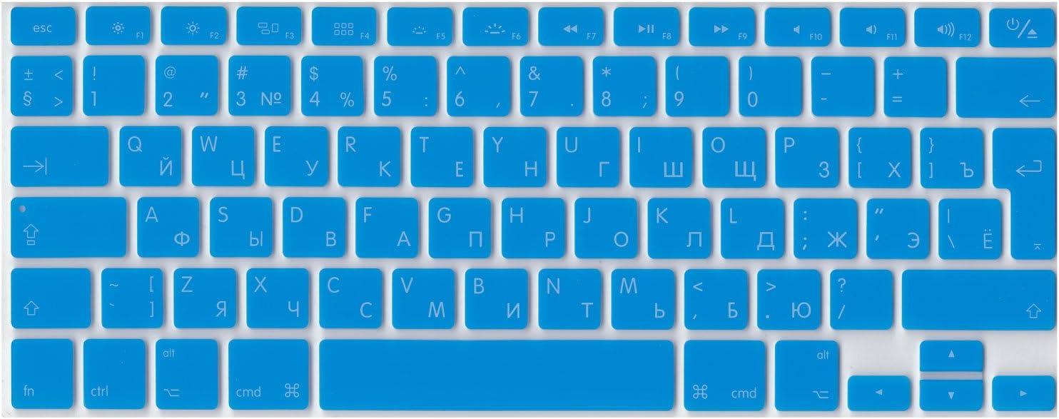 Air /& Pro UE inserisci russo inglese silicone ISO cover tastiera per MacBook