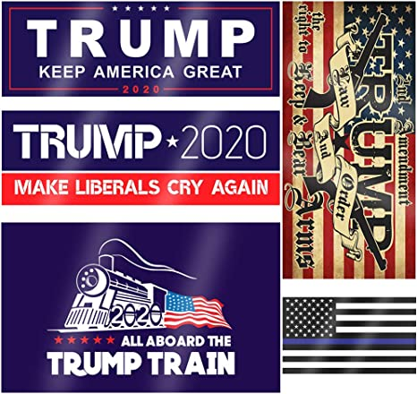 Window Hard Hat StickersTRUMP 2020USA Vote Election President Patriotic
