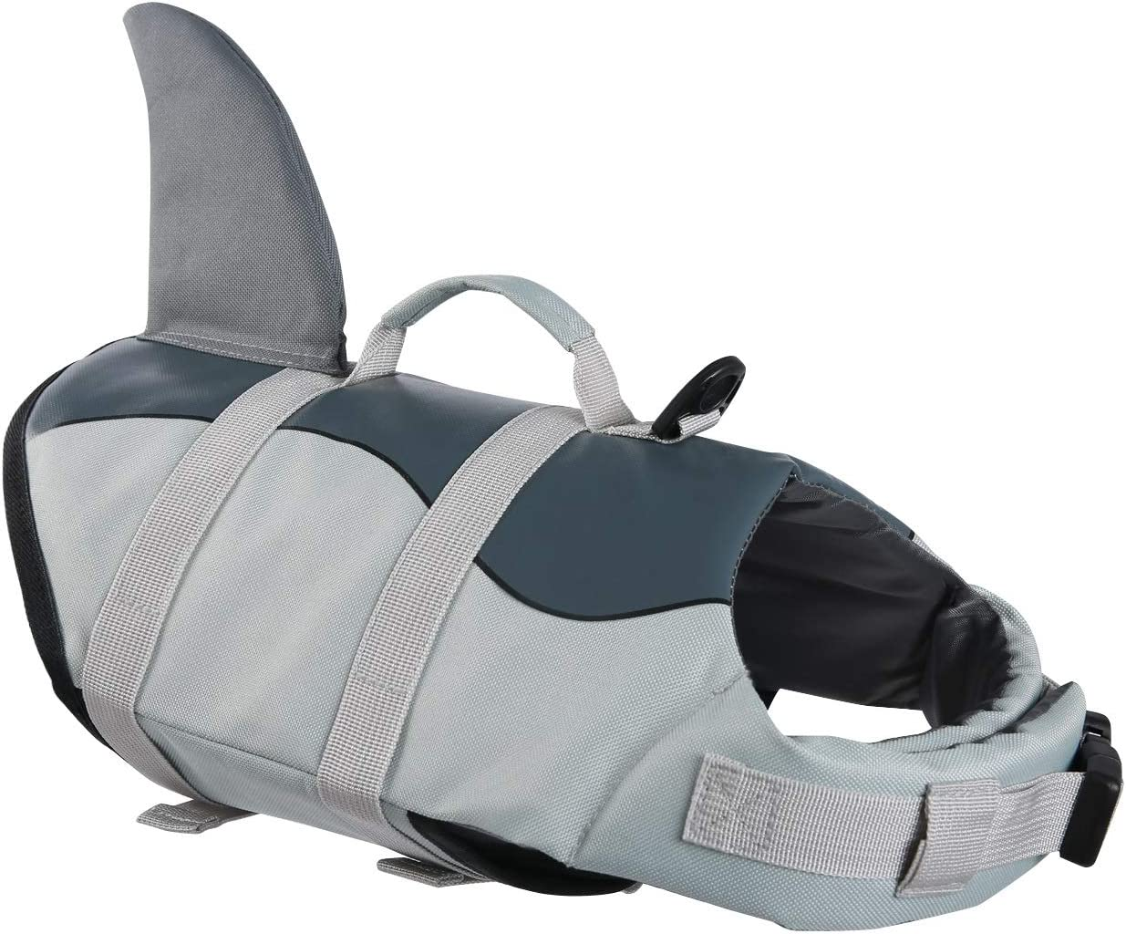 Zuozee Dog Life Jacket, Adjustable Pet Floatation Vest Lifesaver Safety Vest Life Preserver for Small Medium Large Dogs