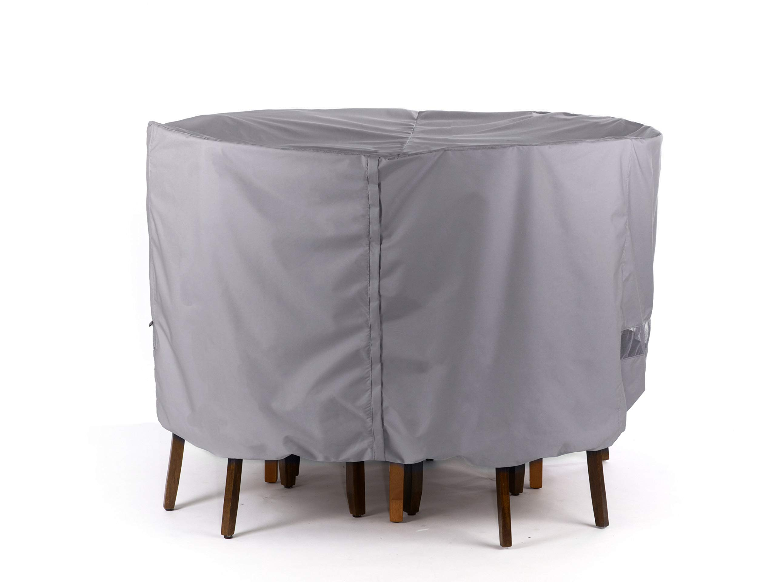 Covermates - Outdoor Patio Round Bar Table and Chair Set Cover 86DIAMETER x 40H - Elite Collection - 3 YR Warranty - Year Around Protection - Charcoal by Covermates