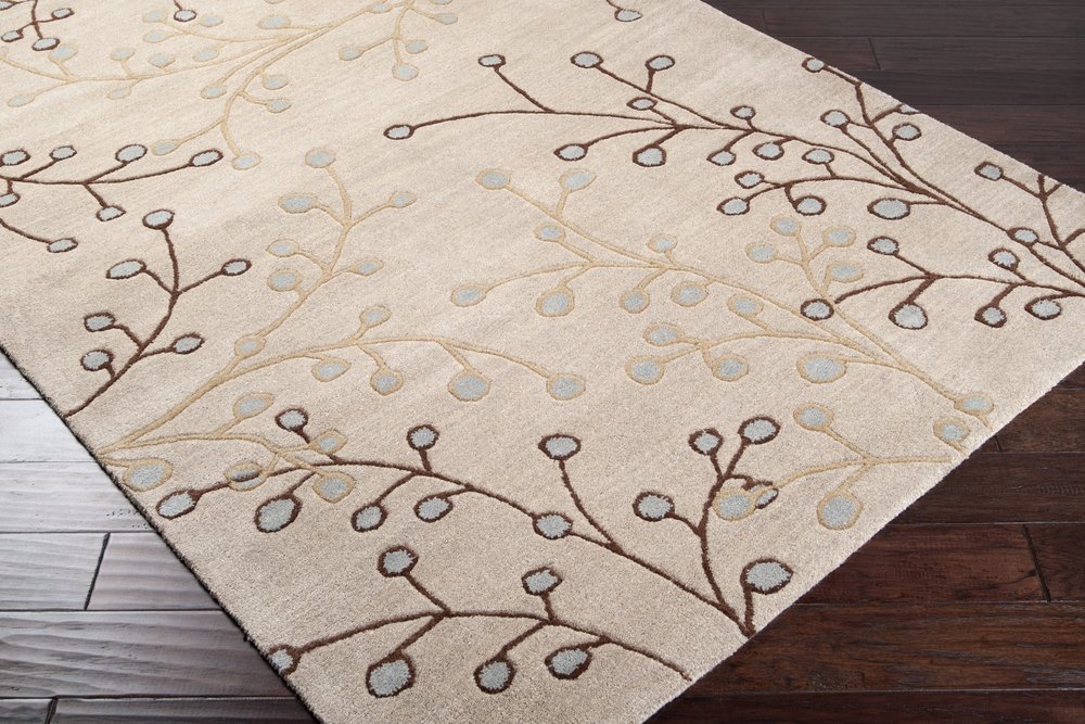 Athena Ivory Rug Rug Size: Runner 2'6'' x 8' by Surya