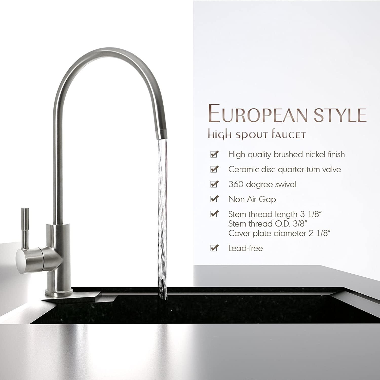 plastic itm tap kitchen water faucet stainless plating abs filter steel purifier drinking